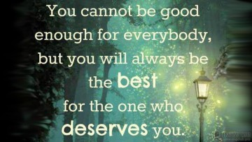 You cannot be good…