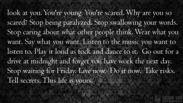 Живи сейчас! это твоя жизнь!